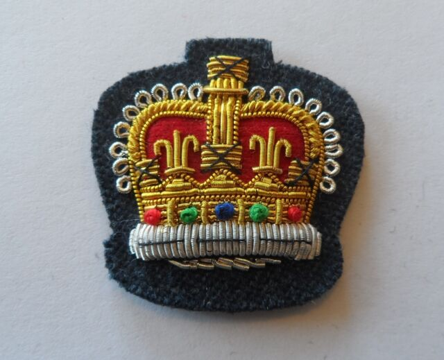 RAF Flight Sergeant Badge, Mess Dress, Crown, Royal Air Force, Blue, Badge
