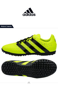 Adidas-Ace-16-3-Turf-Shoes-Men-Adult-Neon-Yellow-Boots-Cleats-S31960-Soccer-9