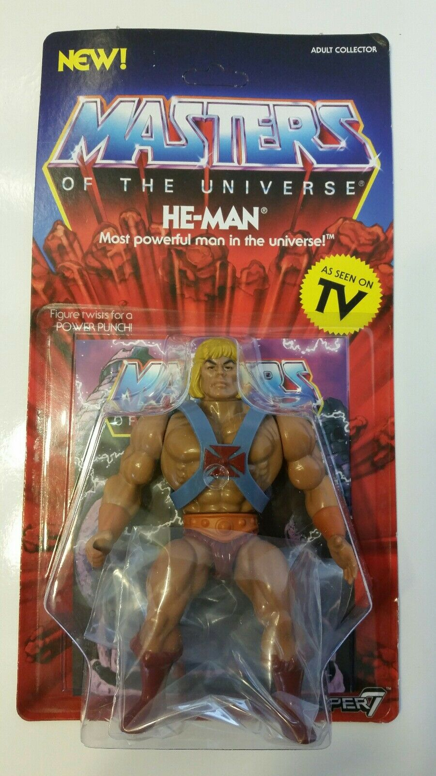 SUPER 7 'VINTAGE COLLECTION' 5.5  HE-MAN Action Figure 2018 - Brand New  Sealed