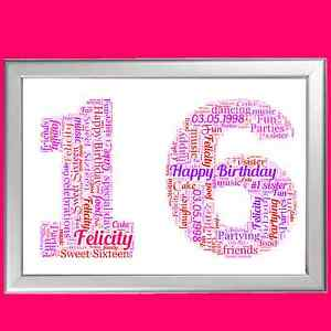 Image Is Loading PERSONALISED BIRTHDAY GIFT 16 16th SIXTEEN SIXTEENTH KEEPSAKE