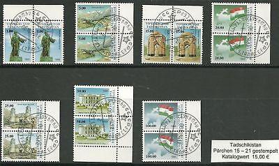 0945/ Tadschikistan 15 - 21 Gest Paare Randstücke üBereinstimmung In Farbe