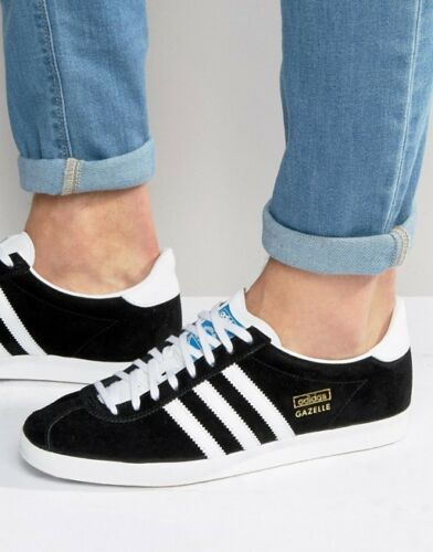 ADIDAS ORIGINALS GAZELLE MENS TRAINERS BLACK SUEDE UK SIZE 7-11