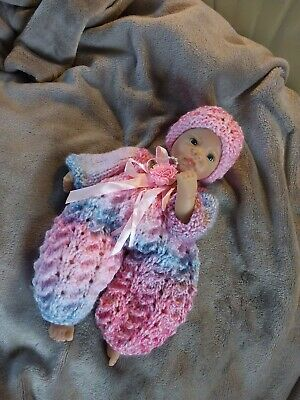"Reborn Ooak Hand Knitted Dolls Clothes To Fit 10"" Ashton Drake"