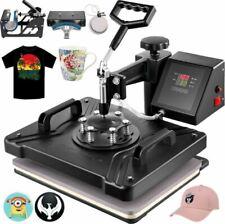 5in1 Heat Press Transfer Machine Digital Chanshell Sublimation T Shirt Black