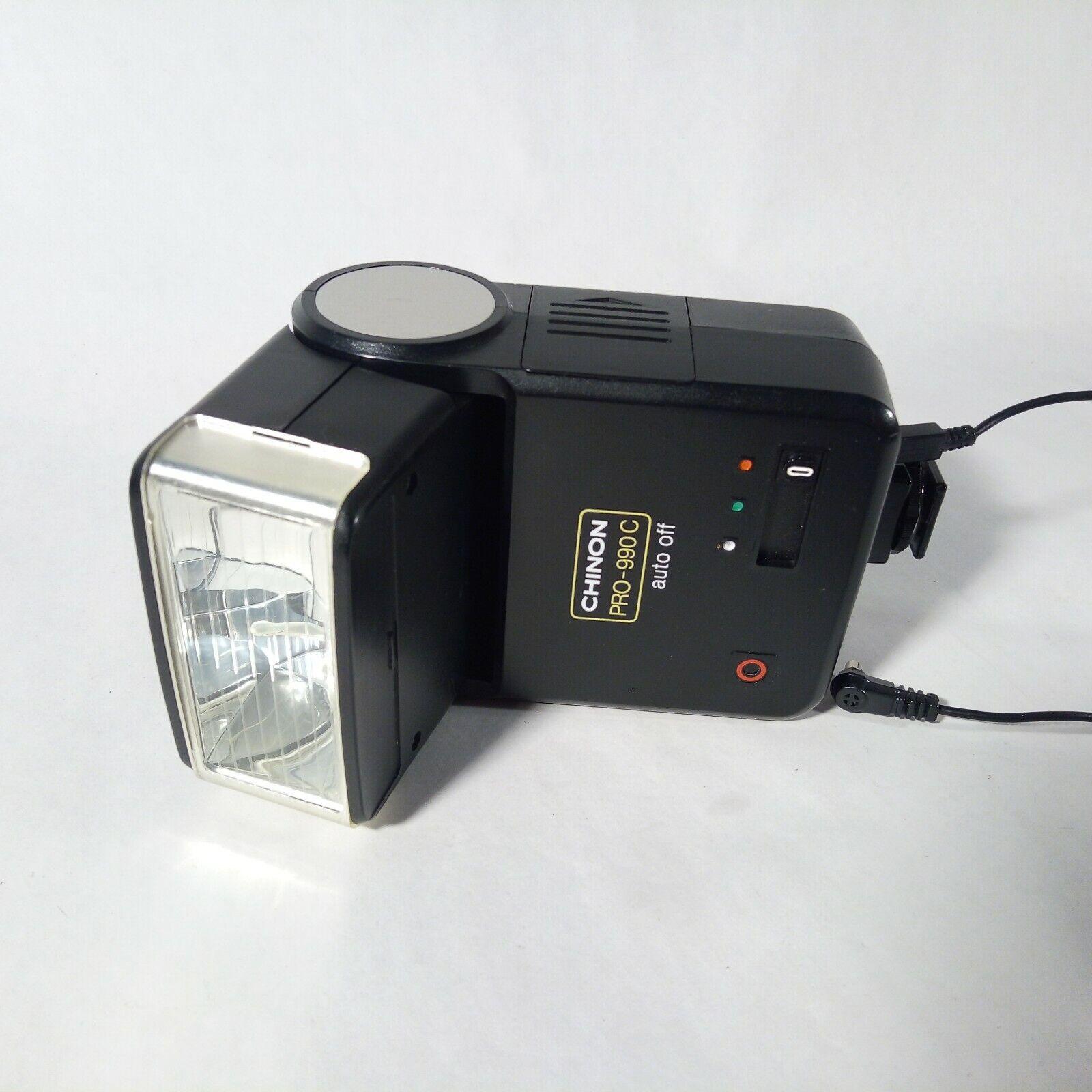 Chinon Pro-990C auto Thyristor Vintage Flash + sync cable - 35mm Film
