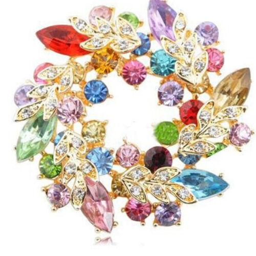 Mariage Bouquet Cristal Strass Fleur Broche Pin