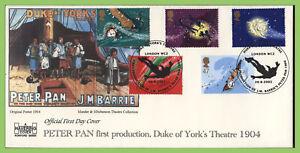 Conjunto-de-Graham-Brown-2002-Peter-Pan-en-Havering-Oficial-Primer-Dia-Cubierta-London-WC2