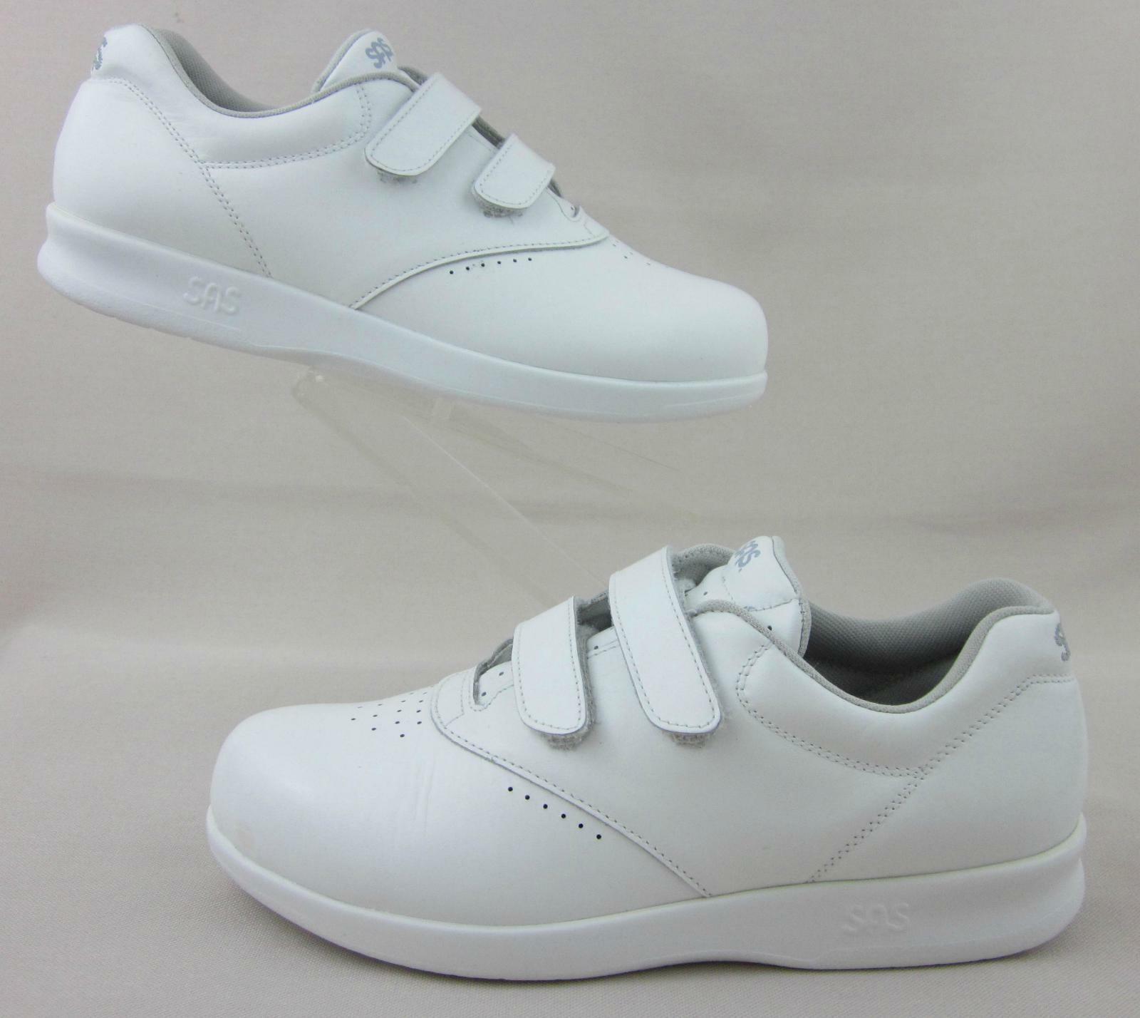 SAS 'MEE demasiado' ez Correa De Piel blancoa Comodidad Zapatos US 8.5M fantásticos