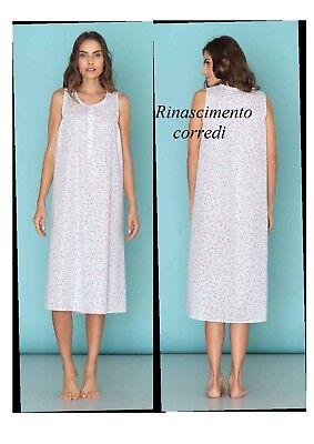Camicia Notte Donna Spalla Larga Smanicata Batista Linclalor Taglie Forti 29042