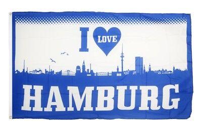 Fahne Fanflagge Hamburg Bulldogge Flagge Fußball Hissflagge 90x150cm