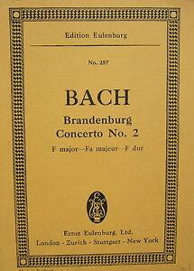 J-S-Bach-Brandenburg-Concerto-No-2-Taschenpartitur-gebr