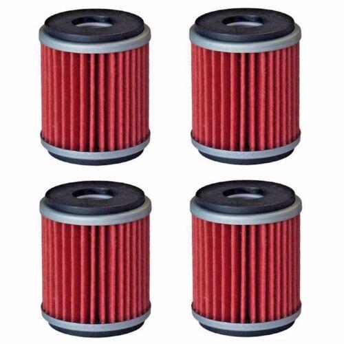 4-Pack Oil Filter Filters for Yamaha YFZ450 YFZ450R YFZ450W YFZ450X Raptor 250