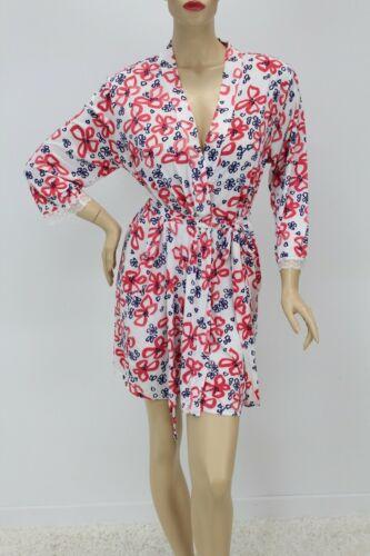 Oscar de la Renta Soft short robe bed jacket bow p