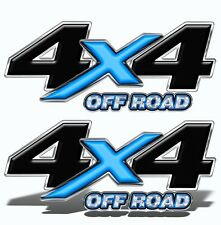4X4 OFF ROAD DECAL STICKER Blue Graphics Toyota Chevy Ford Dodge Truck Mk003OR4