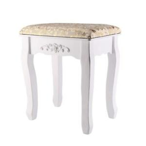 Awesome Details About Gold Wooden Dressing Stool Piano Makeup Baroque Seat Chair Machost Co Dining Chair Design Ideas Machostcouk