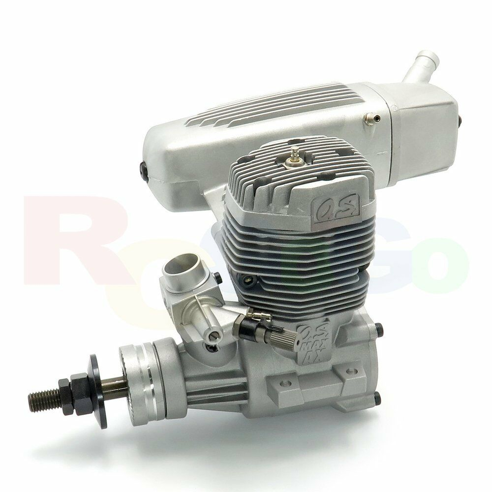 O.S. MAX-75AX Glow/Nitro RC Airplane Engine with E-4040 Silencer   OS17400