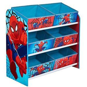 SPIDERMAN-6-Poubelle-unite-de-stockage-pour-enfants-jouets-LIVRES-JEUX