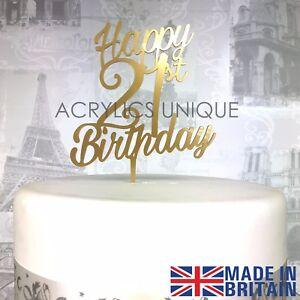 Das Bild Wird Geladen 21st Geburtstag Kuchen Topper Acryl 21 Feier