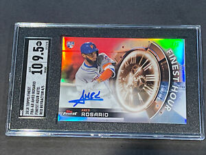 2018 Finest Red Refractor /5 Auto Amed Rosario RC Rookie SGC 9.5/10