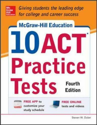 Mcgraw Hill Education 10 Act Practice Tests 4th Edition By Steven
