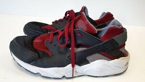 M457-da-Uomo-Nike-Air-Huarache-Nero-Rosso-Running-Scarpe-Da-Ginnastica-Misura-UK-13-EU-48-5-US-14
