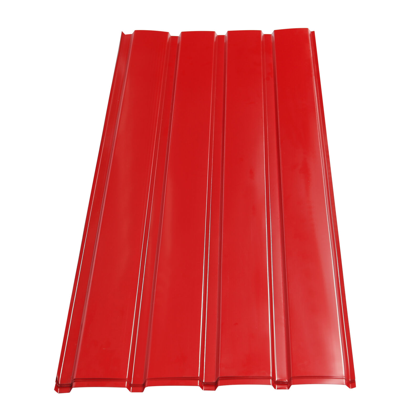 12 PCS Red Roof Sheets Corrugated Profile Galvanized Metal Roofing Carport