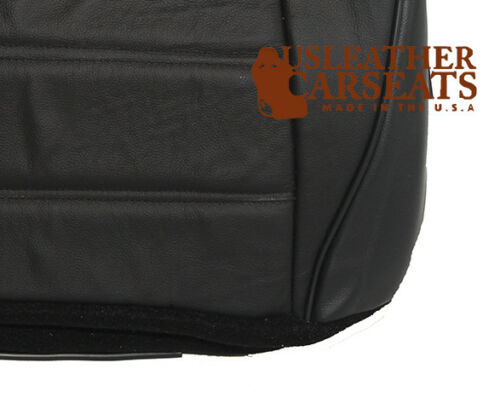 2003 Ford Mustang Driver Side Bottom Replacement Leather Seat Cover Black