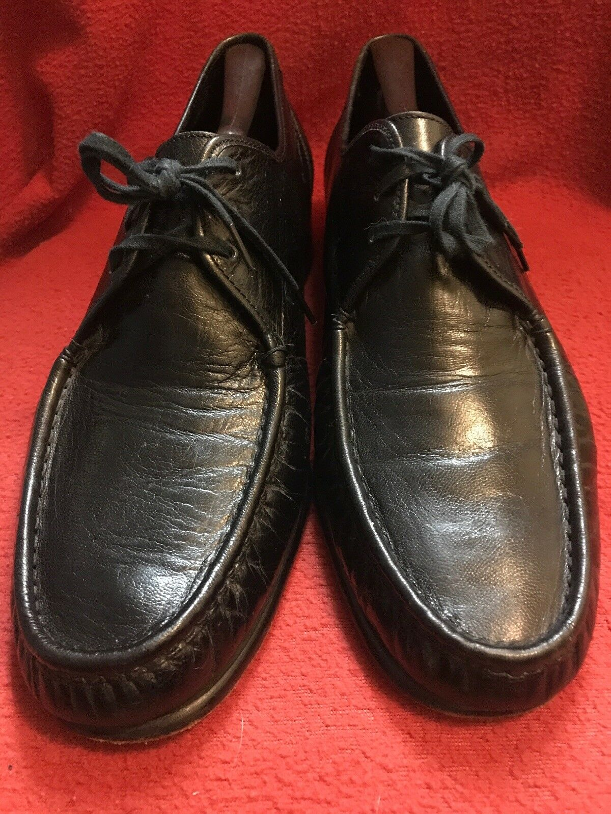 Florsheim black leather lace up oxford Hard to Find 11 E