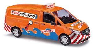 Busch-51138-Mercedes-Vito-Kanal-Reinigung-Car-Model-1-87-H0