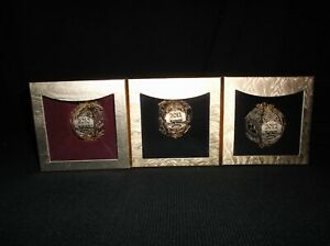 SET OF 3 SETTLERS OF CATAN CUT BRASS ORNAMENTS FROM MAYFAIR GAMES BRAND NEW