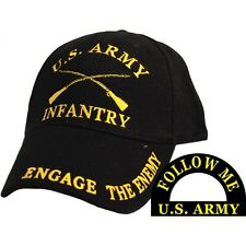 United States Army Infantry Black Hat Cap USA