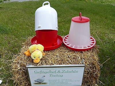 Sonstige Geflügelzylindertränke Mit 6kg Futterautomat Einfach Und Leicht Zu Handhaben Haustierbedarf