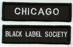 Noir Label Society Ventilateur Membre Club Ville Patch Ensemble : BLS Chicago