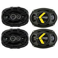 Kicker D-series 6x9 360w 3-way Car Audio Coaxial Speakers 43dsc69304 (4 Pack) on Sale