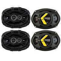 Kicker D-series 6x9 360w 3-way Car Audio Coaxial Speakers 43dsc69304 (4 Pack) on Sale