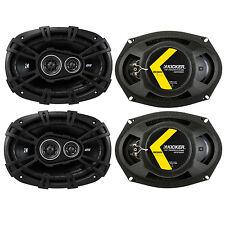 4 KICKER 43dsc69304 D-series 6x9 140 Watt 3-way Car Audio Coaxial Speakers