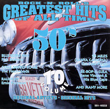 Various Artists Greatest Rock & Roll Hits of All Time 10 CD