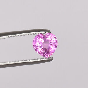 5.10 Ct Natural Ceylon Pink Color Sapphire Heart Shape Loose Certified Gemstone