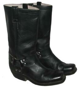 coole-Western-Stiefel-Lederstiefel-Biker-Boots-schwarz-Gr-6-5-ca-40