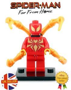 1pcs Marvel Mini Figures Fit Lego Iron Spider-man Far From Home Bloc Vendeur Britannique-afficher Le Titre D'origine