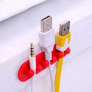 3pcs Cord Clip Wire Cable Line Holder Tie Fixer Organizer Drop Adhesive Clamp
