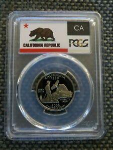 2005-S 25c Kansas SILVER State Flag Label Quarter Proof Coin PCGS PR70DCAM