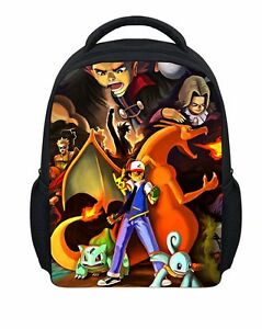 7333c7a4e810 Image is loading Pokemon-Pikachu-Backpack-School-Bag-Bookbag-Children-Kids-