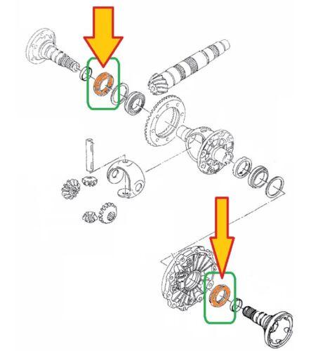 siehe Liste 4B2, C5 2 St Wellendichtring 45x60x8 Getriebe Antrieb AUDI A6