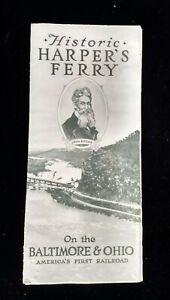 Baltimore-amp-Ohio-America-039-s-First-Railroad-Historic-Harper-039-s-Ferry-Brochure