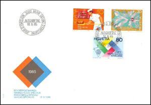 FDC-Suisse-Timbres-poste-speciaux-10-9-1985