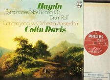 9500 303 COLIN DAVIS haydn symphonies no 87 and 103 drum roll uk LP PS EX/EX