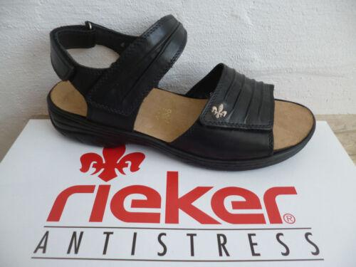 Sandalo Alto Nuovo Tacco Pelle Col Sandali Nero 64560 Donna Rieker BwtaYSx