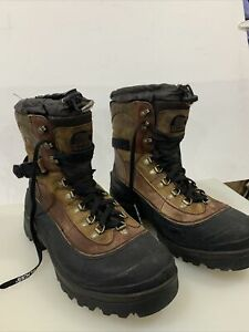 NEW-Men-039-s-SOREL-Conquest-LEATHER-Waterproof-Winter-Insulated-Boots-Size-14