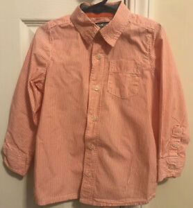 Oshkosh-B-gosh-Boys-5t-Long-Sleeve-Coral-Button-Up-Shirt